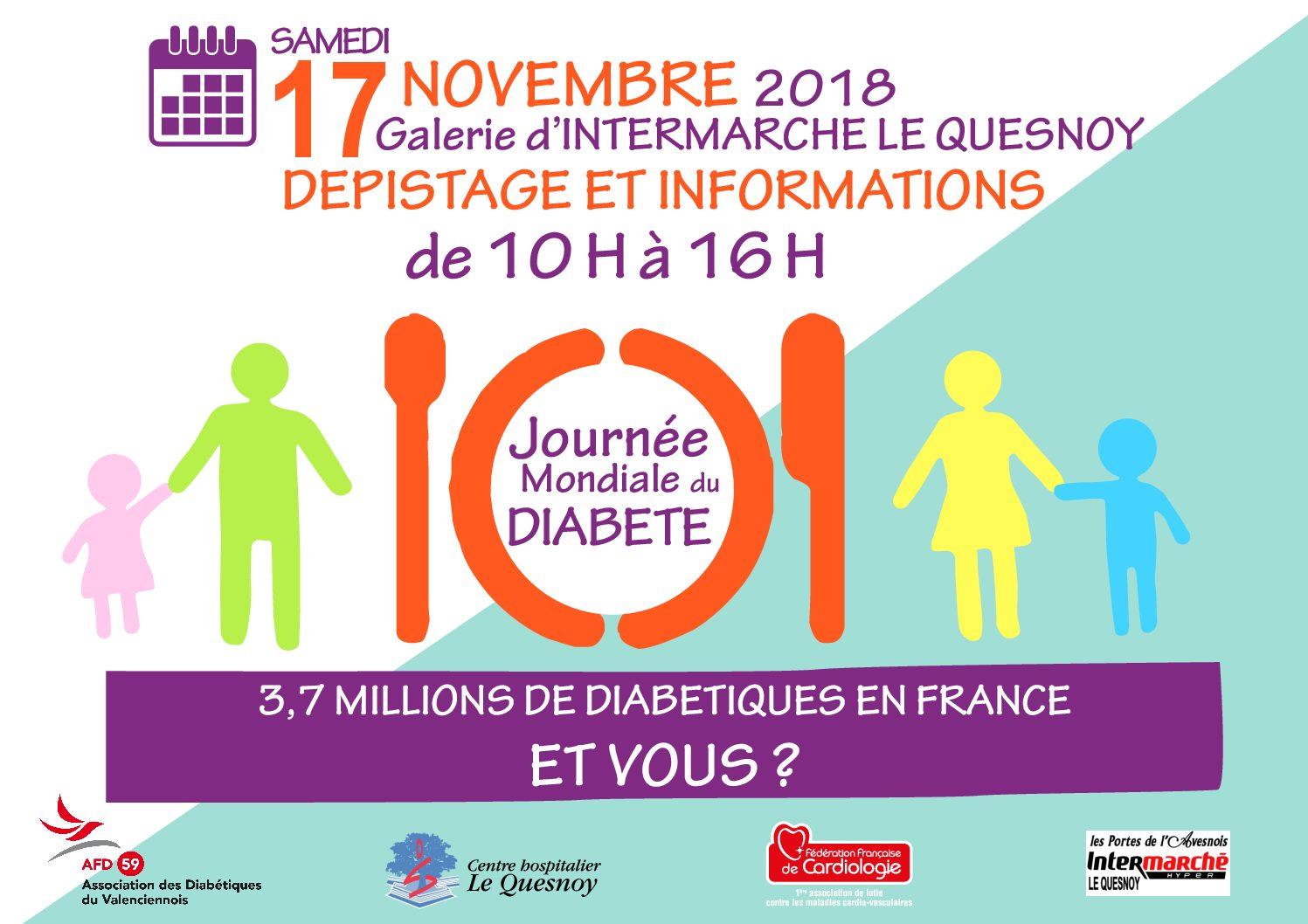 Journée Mondiale du Diabète – 17 novembre 2018