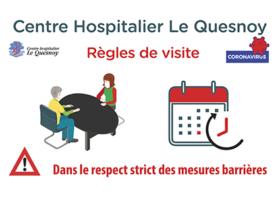 Nouvelles règles à respecter impérativement pour les visites au CH<br/>à partir du 16 septembre 2020
