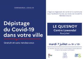 Journée de dépistage gratuit et ouvert à tous organisée par la ville du Quesnoy