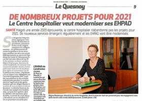 L'observateur de l'Avesnois fait le point sur les projets du CH pour 2021